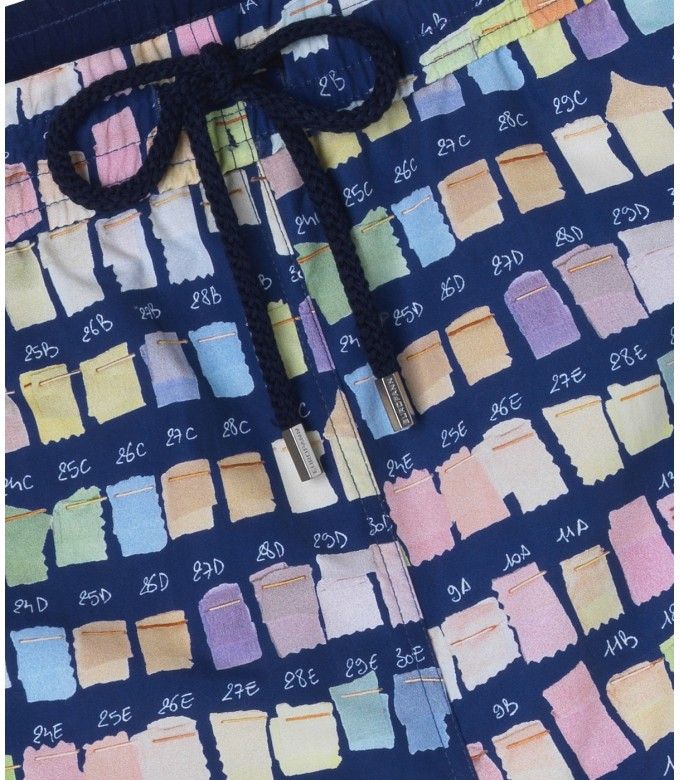 BORNEO JUNIOR - Pantone printed swim shorts, blue navy