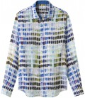 ROSS - Linen pantone printed shirt white