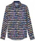 ROSS - Linen shirt pantone navy blue