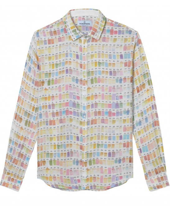ROSS - Pantone's colors-print linen shirt pastel