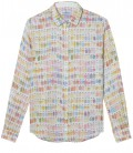ROSS- Linen original printed shirt pastel