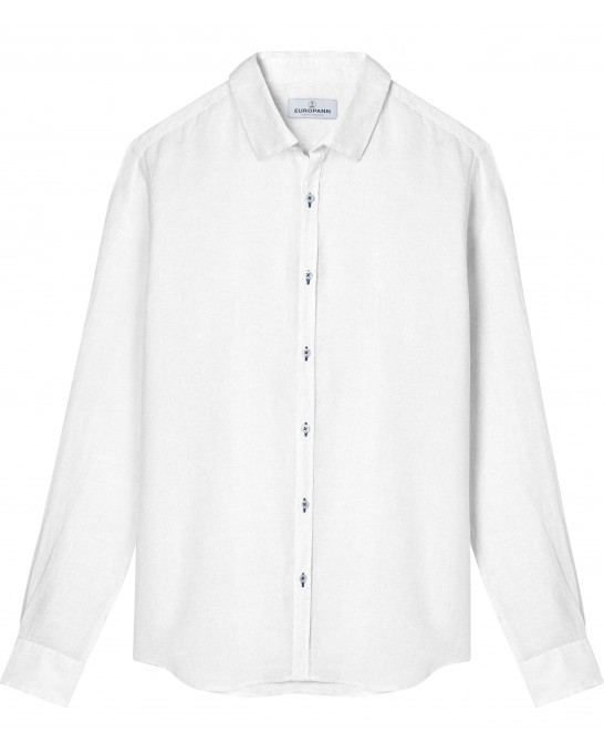 JONAS - Casual linen shirt, white