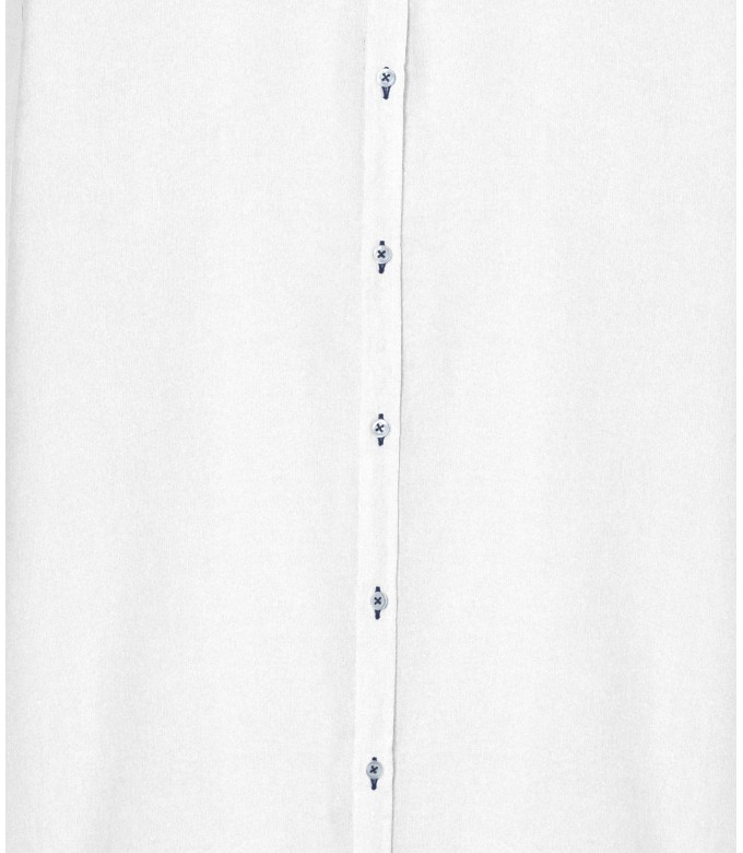 JONAS - Chemise unie lin chiné, blanche