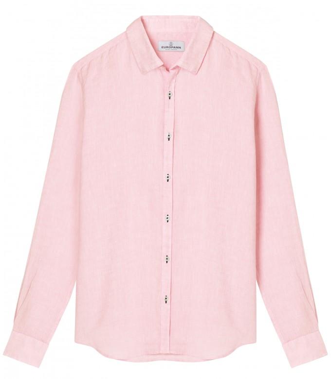 JONAS - Casual linen shirt, pink