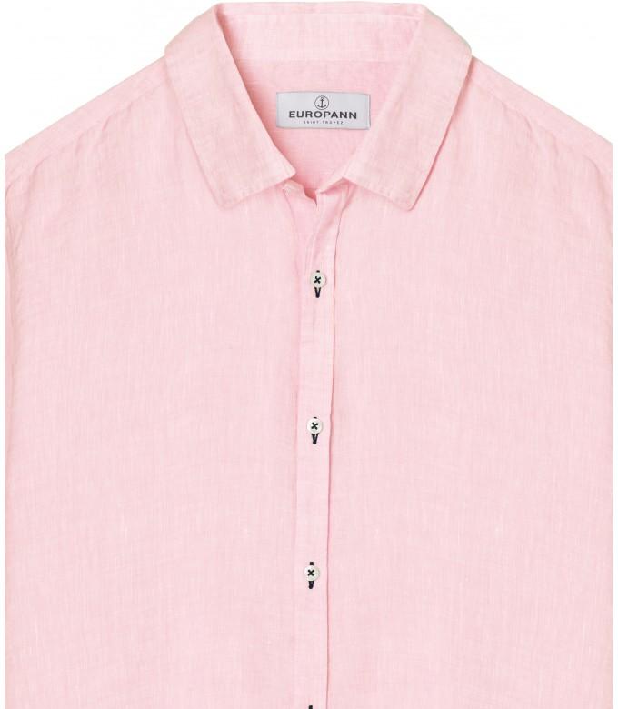 JONAS - Plain linen shirt pink