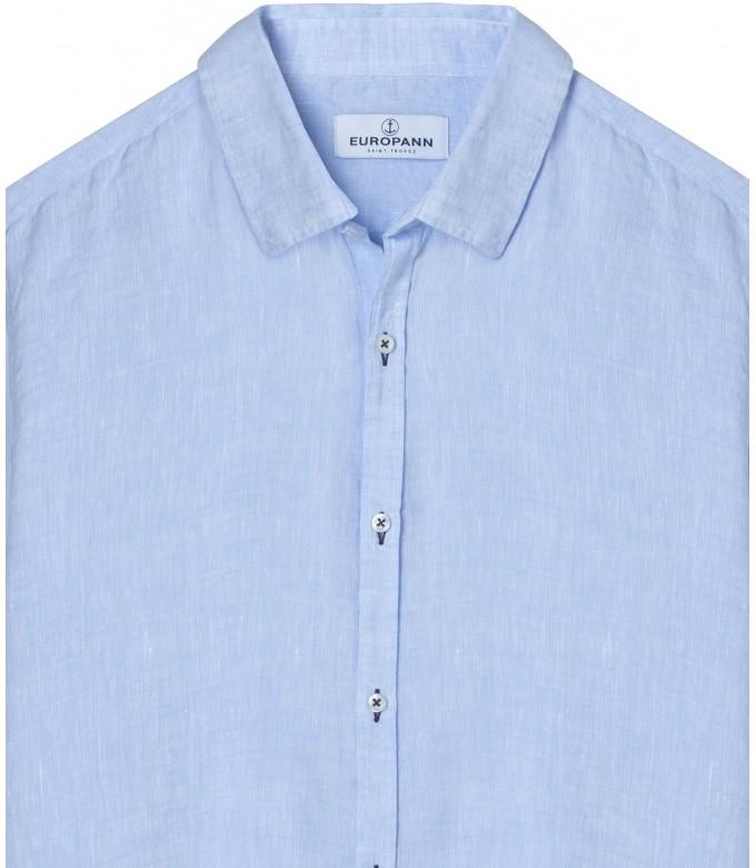 JONAS - Casual linen shirt, light blue