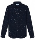 MICRO FLOWERS EMBROIDERED SHIRT CARL