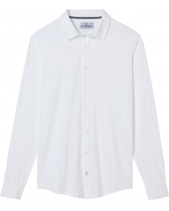 JERSEY COTTON SLIM-FIT SHIRT STUART WHITE