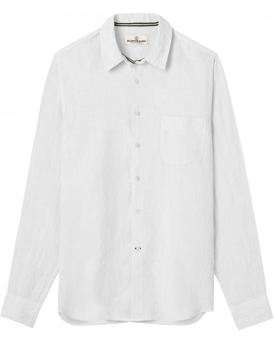 CHEMISE UNIE LIN DIVA BLANCHE