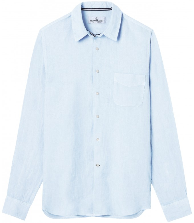 DIVA - Linen casual shirt, light blue