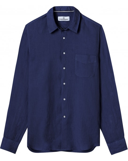 DIVA - Casual linen shirt, ink blue
