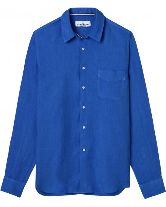 PLAIN LINEN SHIRT DIVA KLEIN BLUE