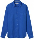 DIVA - Plain linen shirt klein blue