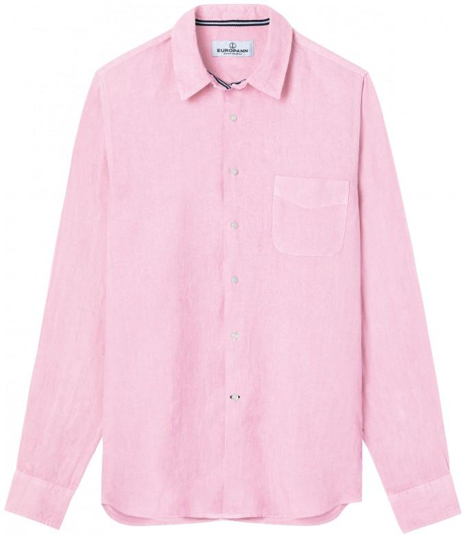 DIVA - Casual linen shirt, light pink