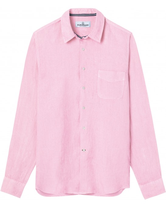DIVA - Casual linen shirt, light pink
