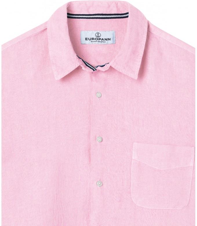 DIVA - Plain linen shirt pink