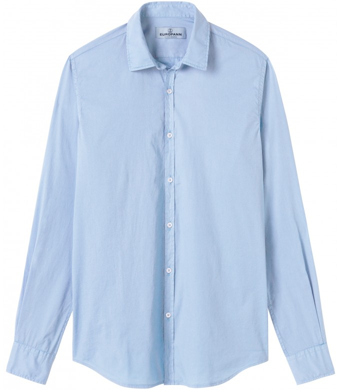 VARDY - Casual cotton-voile shirt, light blue