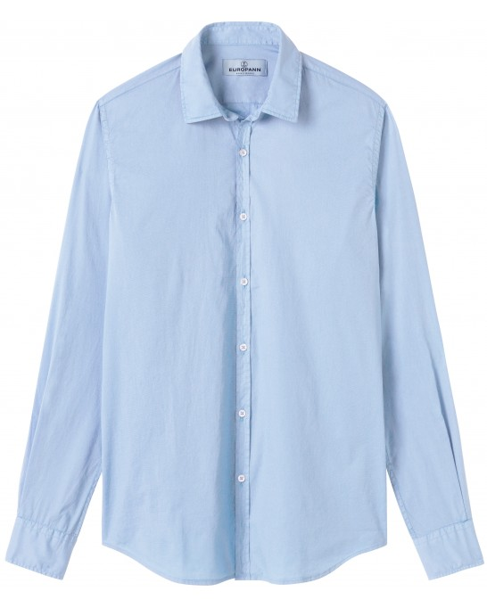 CASUAL COTTON VOILE SHIRT VARDY SKY BLUE