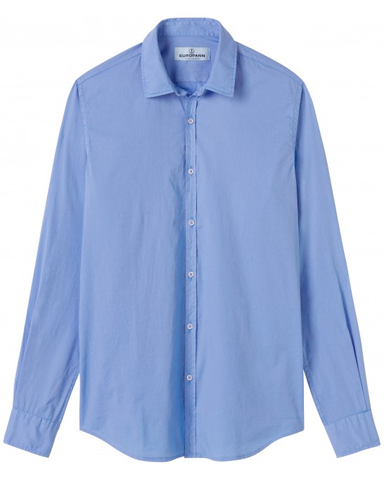 VARDY - Casual cotton-voile shirt, ocean blue