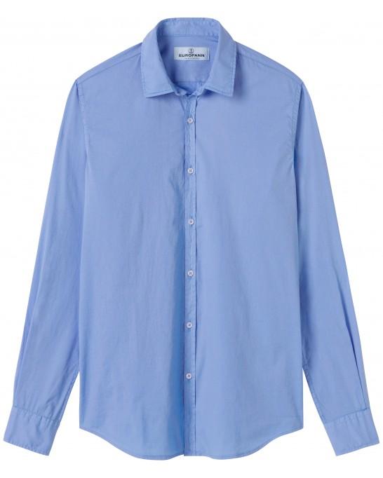 VARDY - Casual cotton-voile shirt, ocean blue
