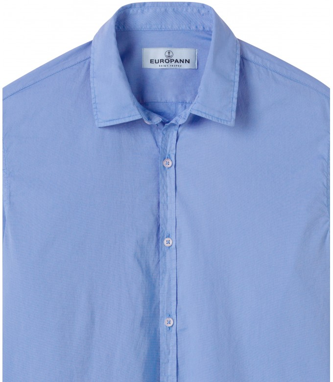 VARDY - Casual cotton voile shirt ocean blue