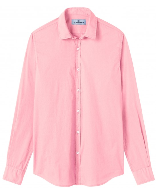 VARDY - Casual cotton-voile shirt, pink