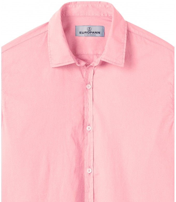 VARDY - Casual pink cotton voile shirt pink