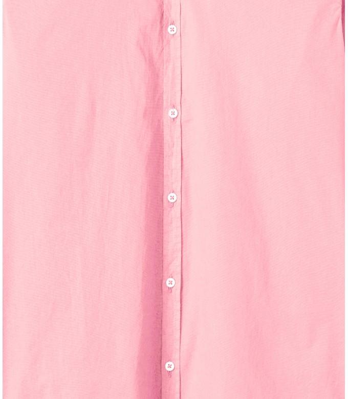 VARDY - Chemise en voile de coton unie décontractée, rose