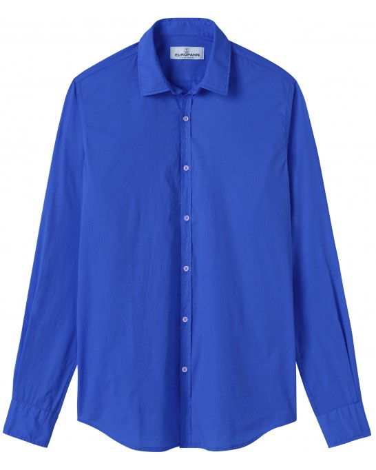 VARDY - Casual cotton-voile shirt, Klein blue