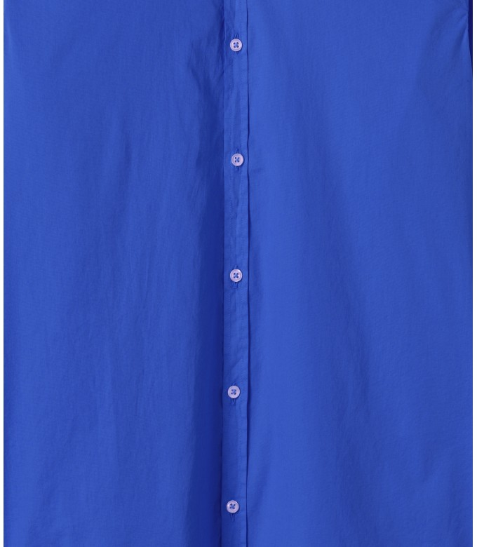 VARDY - Casual cotton voile shirt klein blue