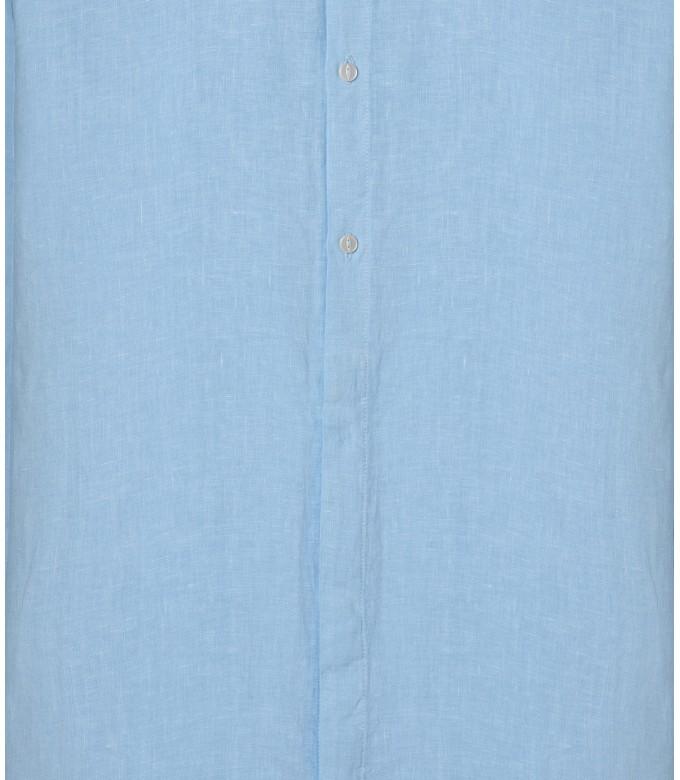 LINEN SHIRT MAO COLLAR STAN SKY BLUE