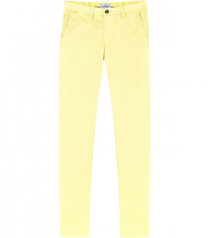 FLASH - Slim fit cotton chinos, yellow