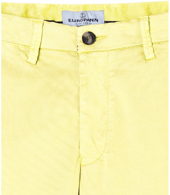 FLASH - Slim fit cotton chinos, yellow