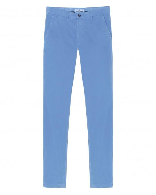 FLASH - Pantalon chino slim, océan
