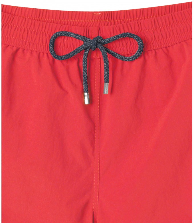 SOFT - Plain color slim fit swimshorts, coral color