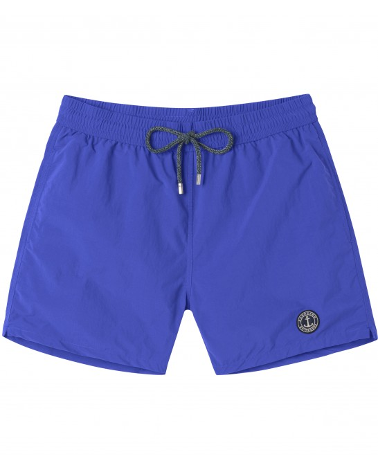 SOFT - Plain color slim fit swim shorts, klein blue