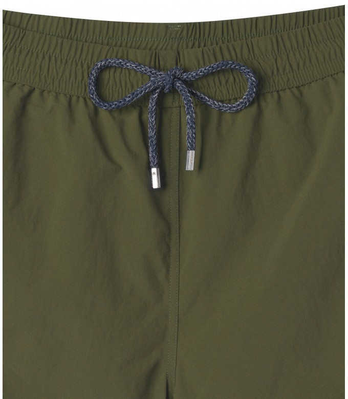 SOFT - Plain color slim fit swimshorts, khaki