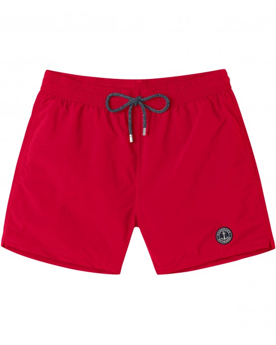 SHORT DE BAIN UNI SOFT ROUGE