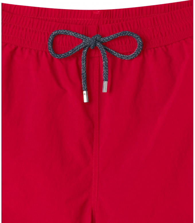 SOFT - Plain color slim fit swimshorts, red