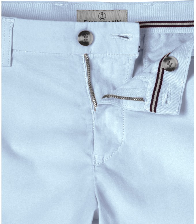 SKY BLUE SLIM FIT COTTON BERMUDAS TEXAS
