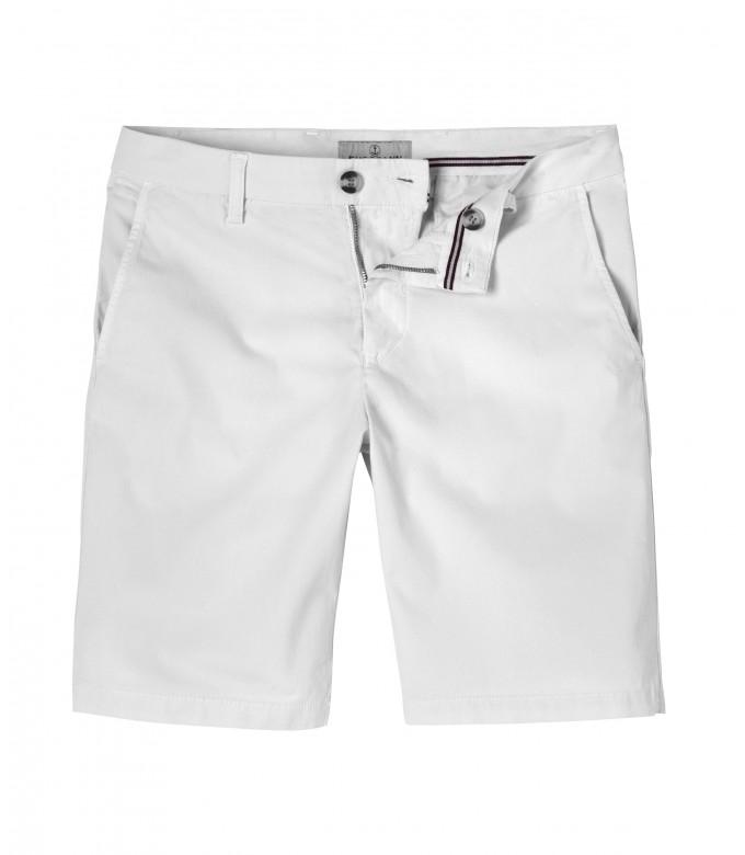 TEXAS - Bermuda chino slim uni, blanc