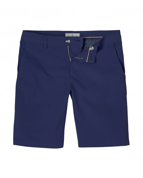 INK BLUE SLIM FIT COTTON BERMUDAS TEXAS