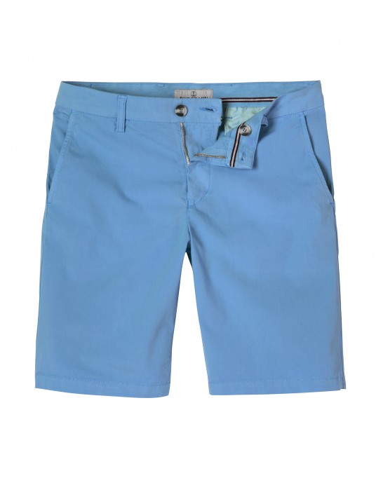 OCEAN BLUE SLIM FIT COTTON BERMUDAS TEXAS