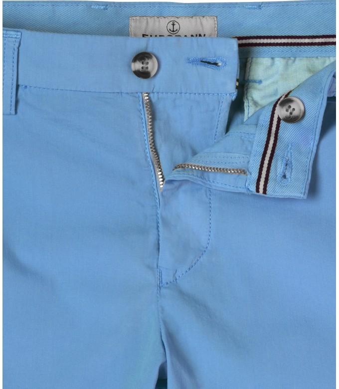 TEXAS - Ocean blue cotton slim-fit bermuda