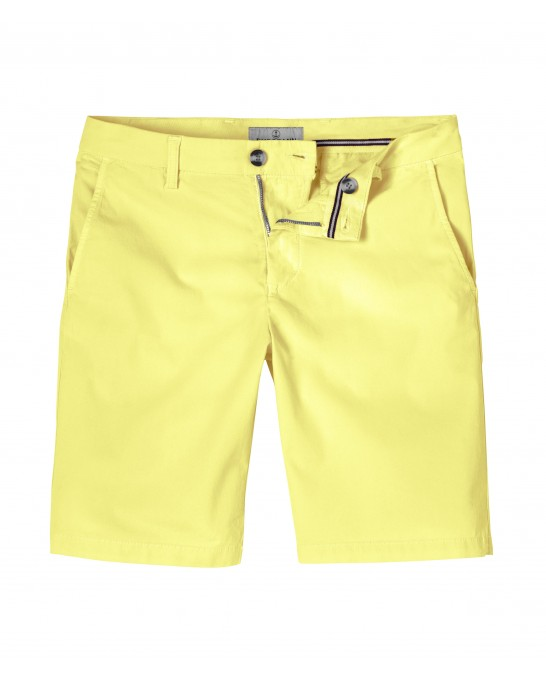 YELLOW SLIM FIT COTTON BERMUDAS TEXAS