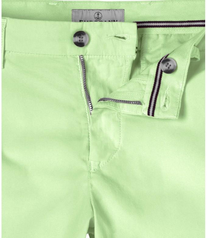TEXAS - Anise green cotton slim-fit bermuda