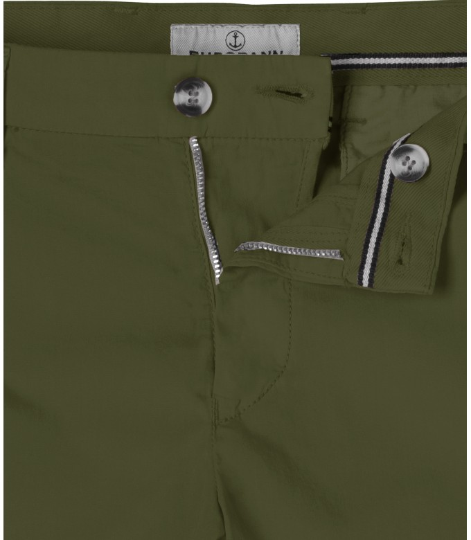TEXAS - Khaki cotton slim-fit bermuda