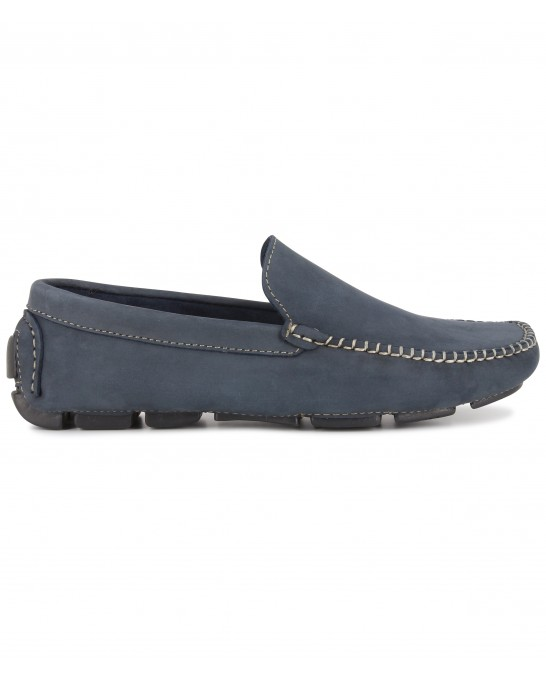 NUBUCK LOAFERS MONZA NAVY BLUE