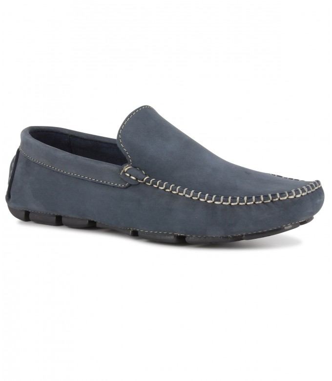 MONZA - Navy lbue nubuck loafers