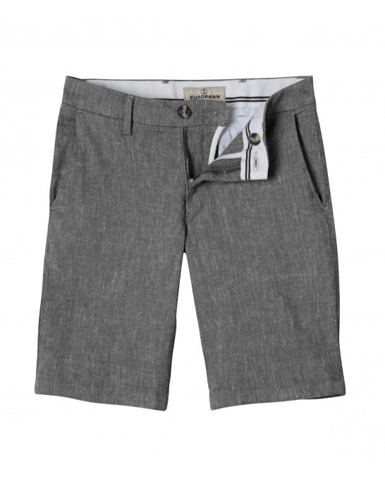 DARK GREY SLIM FIT LINEN-BLEND BERMUDAS TURNER